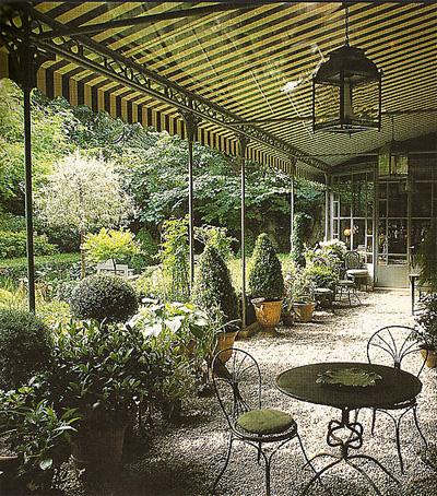 Black awning garden rooms