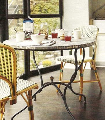 Katie Lee Joel's Paris Bistro Breakfast Chairs Domino June_July '08