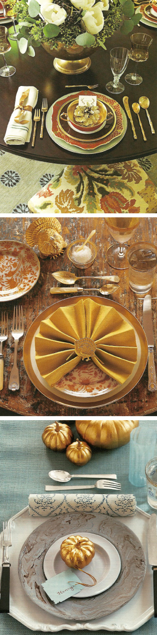 Thanksgiving Table 2008 Gold_ Martha Stewart Nov '07 Cottage Living Nov_Dec '08