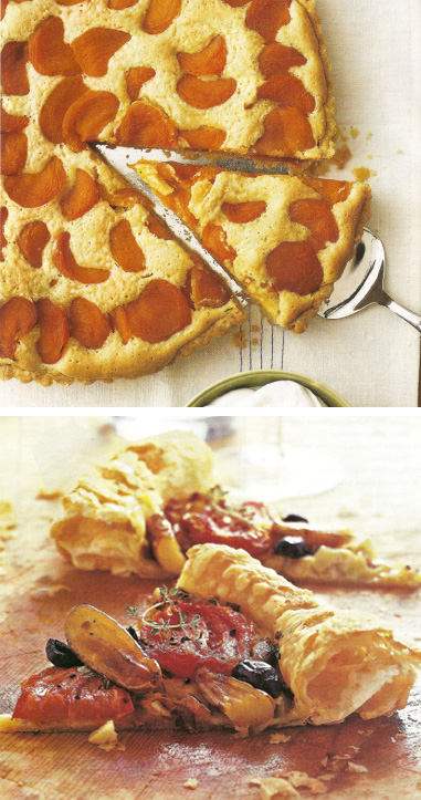 Food and Wine Apricot and Vegetable Tarts